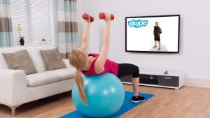 Virtual Personal Training Sesison on Skype