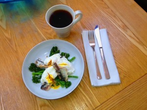Sardines with Broccoli & Poached Eggs