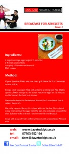 Breakfast For Atheletes - RECIPE CARD