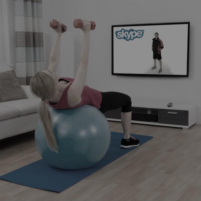 Dark Skype Virtual Personal Training